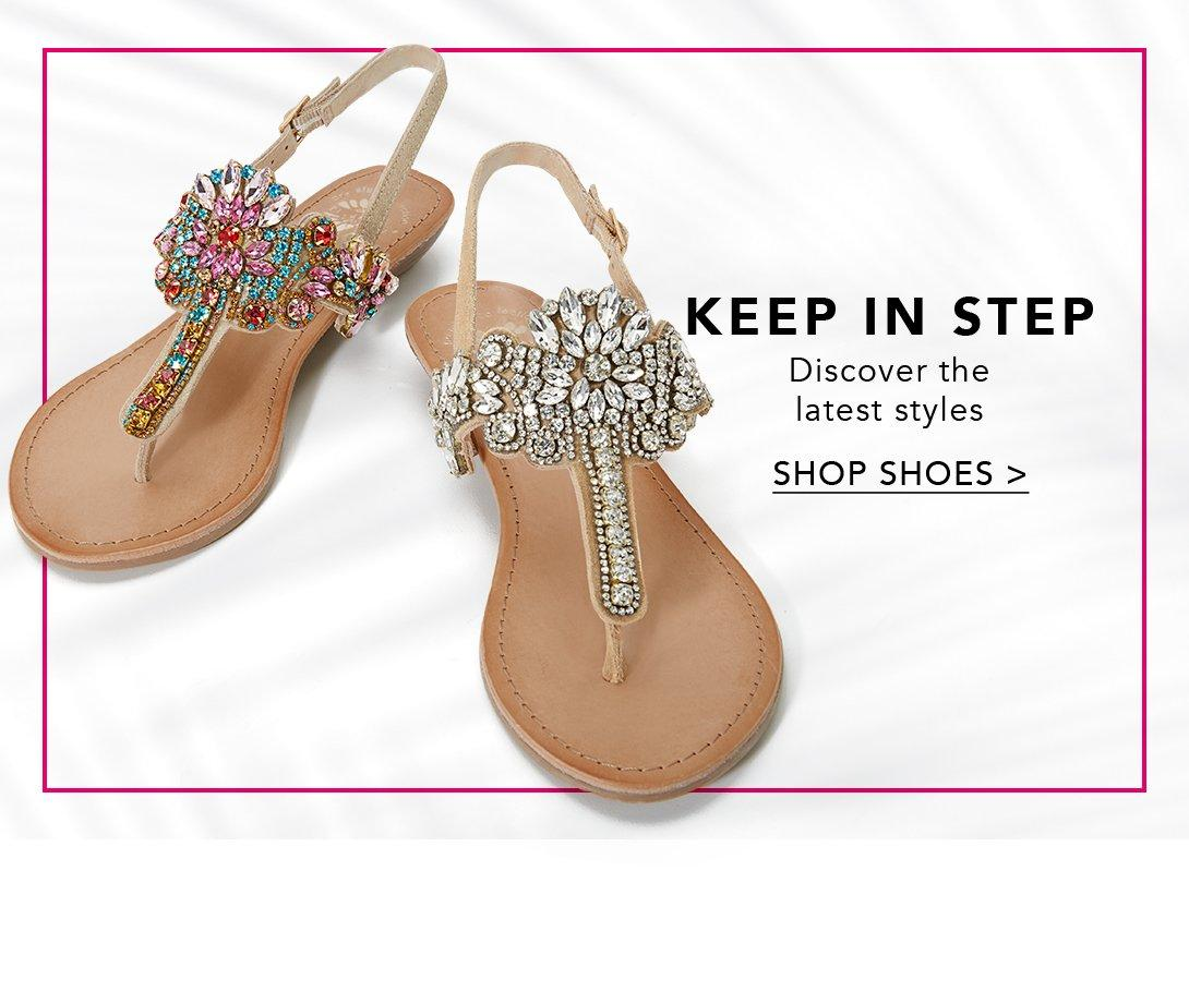 embellished sandals in multi and gold