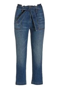 tie-waist cropped jeans.