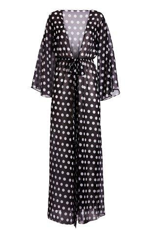 black and white kimono swim cover-up.