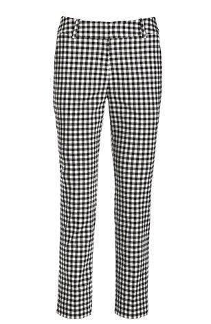 black and white gingham cotton sateen crop pants.