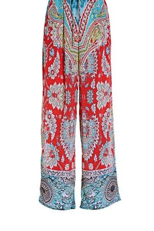 paisley printed palazzo pants.