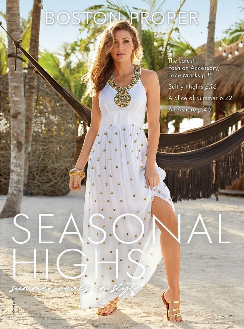 model wearing a gold embellished white maxi dress.