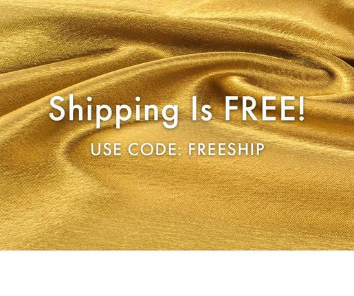 white text on a gold background: we are shipping and it