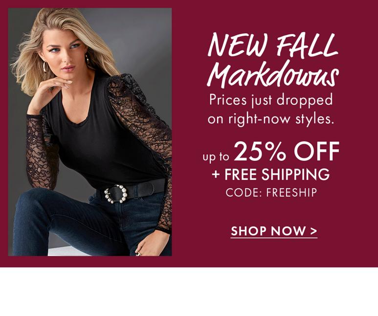 New Fall Markdowns!