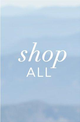 white text on a hazy blue background: shop all.