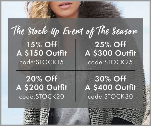 The Stock-Up Event!