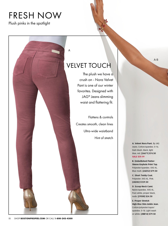 dark pink velvet jag pants.