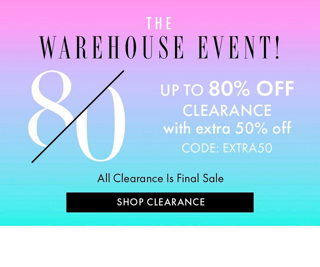 The Warehouse Sale!