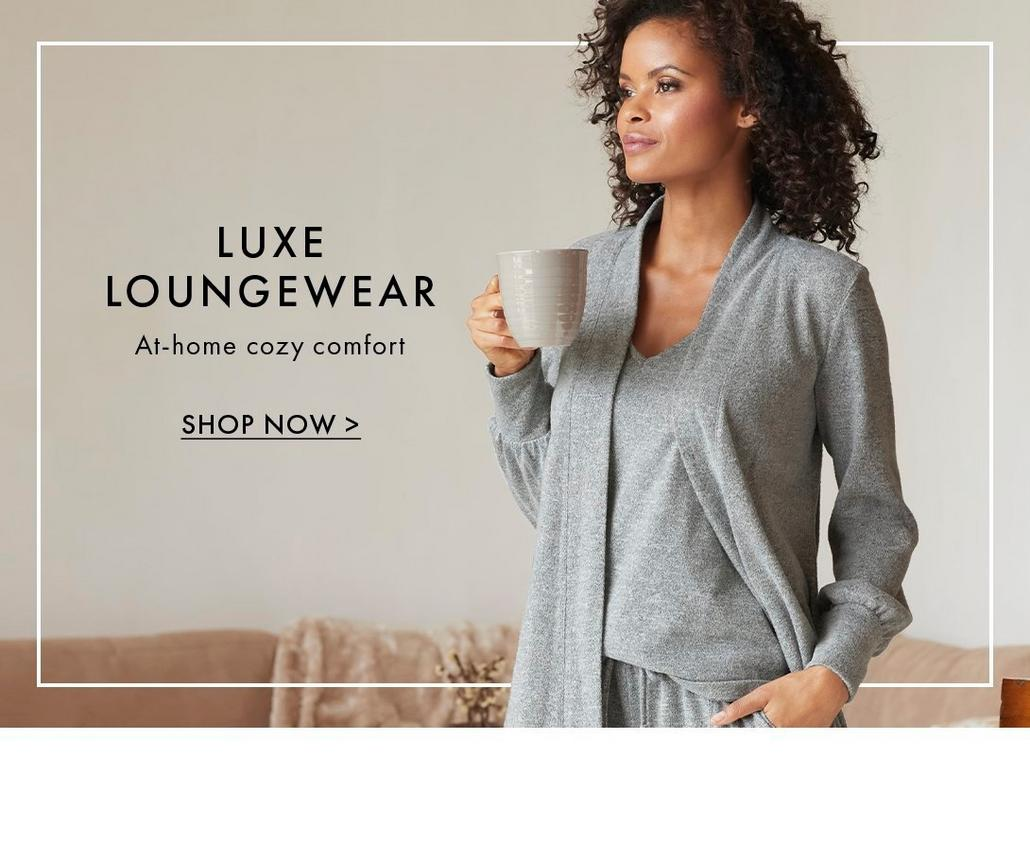 shop the luxe loungewear collection