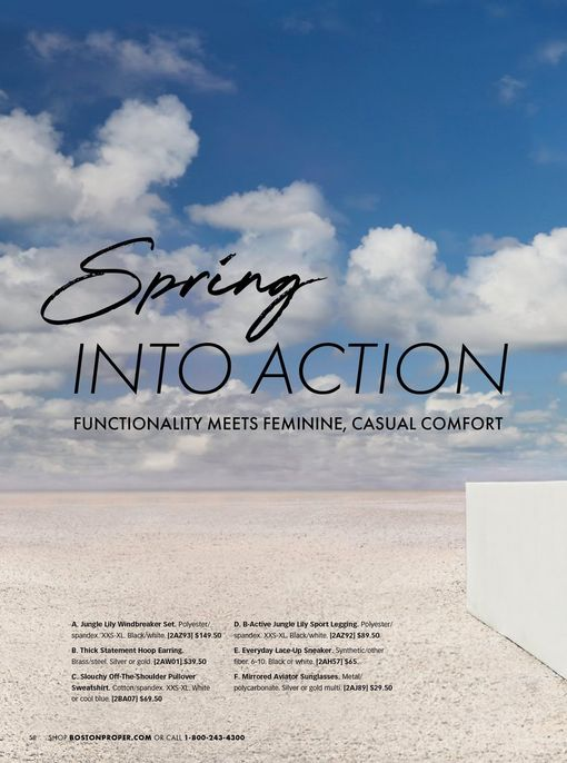black text on a beach background: spring into action