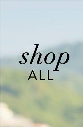 black text on a blurred background: shop all.