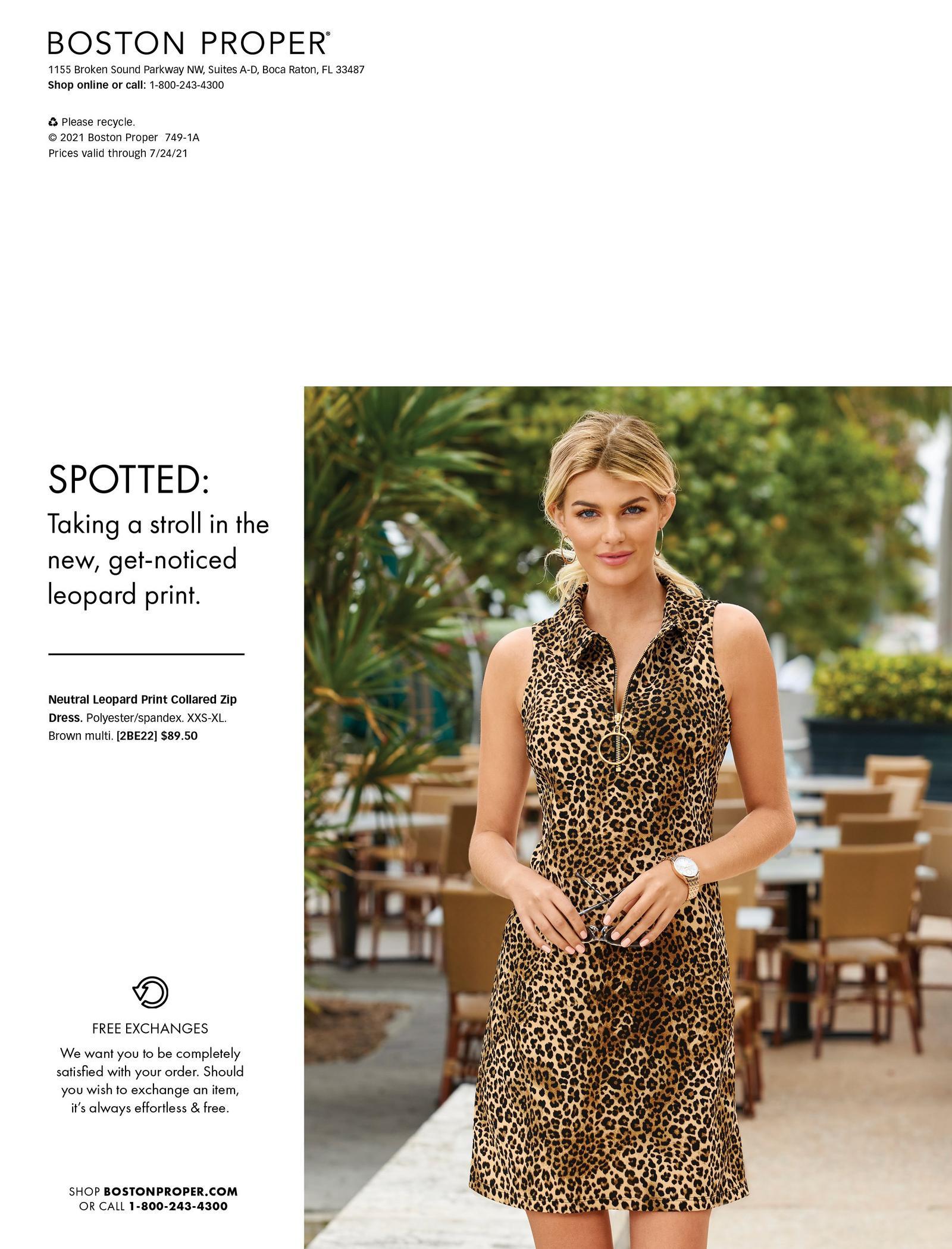 model wearing a leopard print sleeveless collared sports dress.