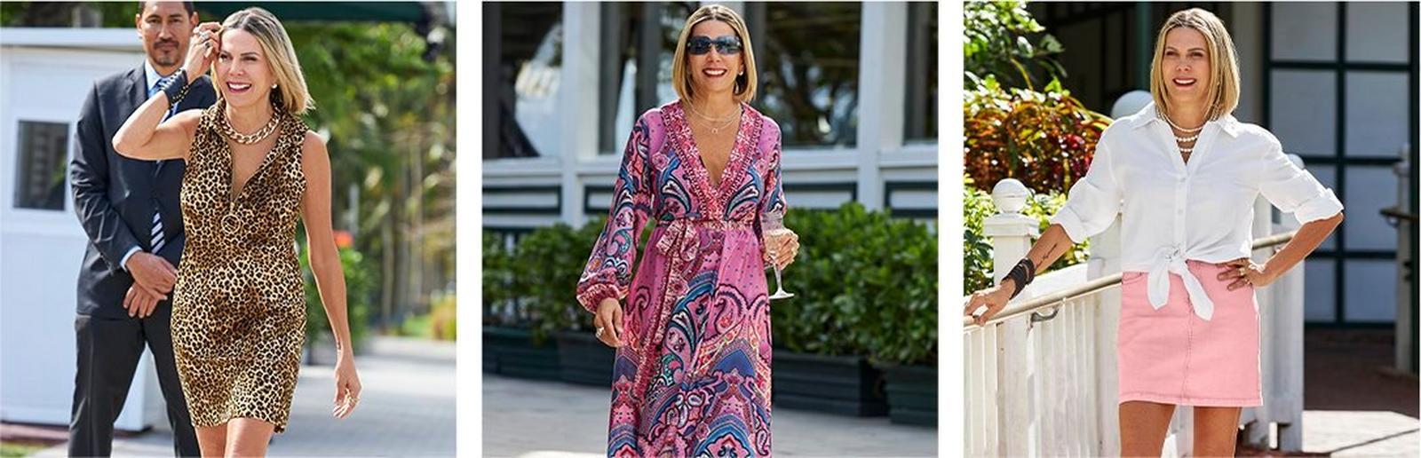 sheryl wearing three of her favorite summer styles.