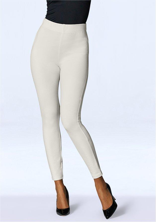 white ponte leggings.
