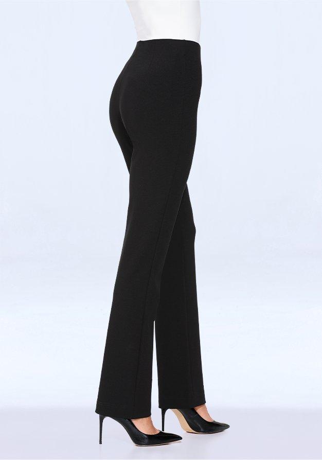 black straight leg pants.