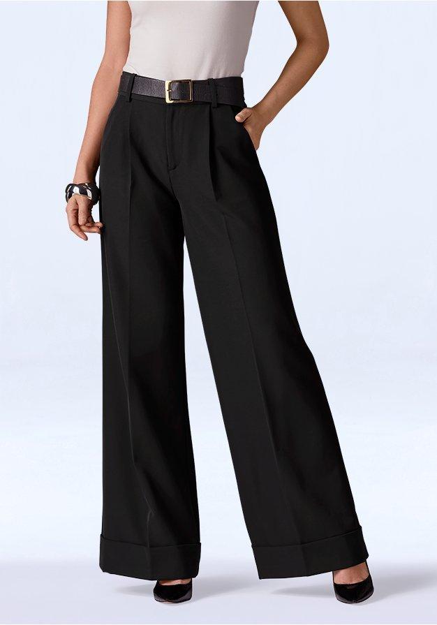 black palazzo pants.