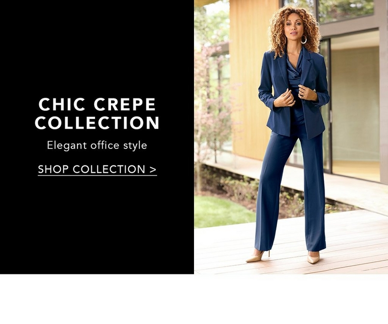 shop the chic crepe collection