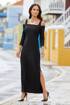Display product reviews for Cold Shoulder Travel Maxi Dress