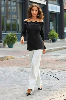 Beyond Travel™ Plus Size Palazzo Pant