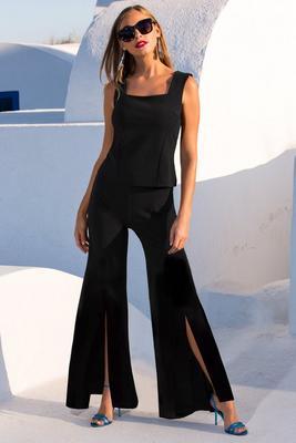 Beyond travel™ high waist slit pant