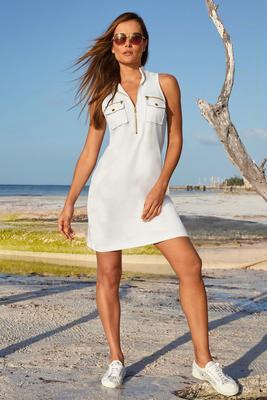 Racerback chic zip dress