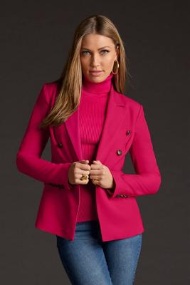 Display product reviews for Crepe double-breasted blazer
