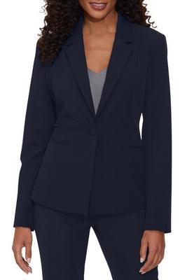 Single button crepe blazer