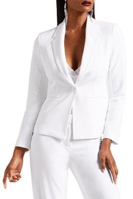 Single button crepe blazer