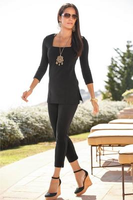 Beyond travel™ square neck top
