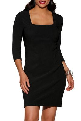 Display product reviews for Beyond travel™ square neck dress