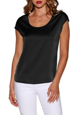 Display product reviews for Scoop-neck charm tee