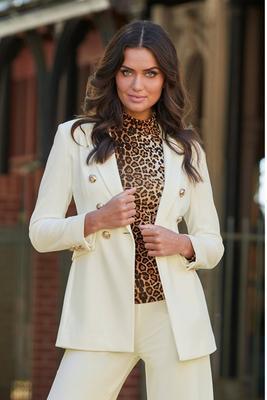 Beyond travel sleek double breasted jacket