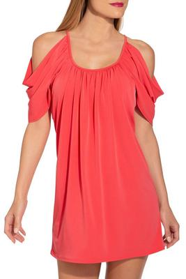 Cold shoulder scoop-neck dress