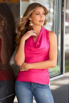 Marilyn cowl neck blouse