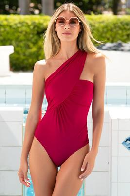Goddess crossover one piece swimsuit