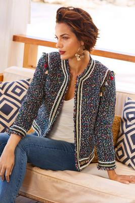 Tassel tweed jacket
