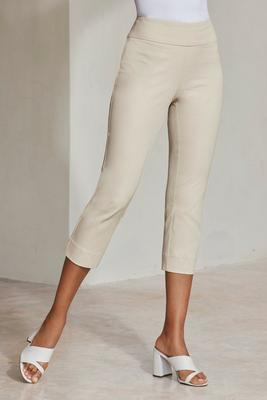 Everyday side zip twill capri pant