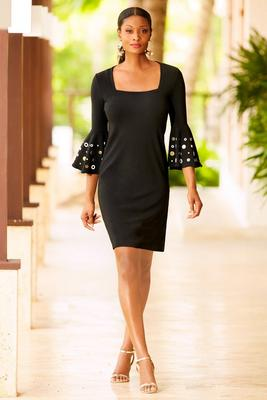 Beyond travel™ square neck grommet dress
