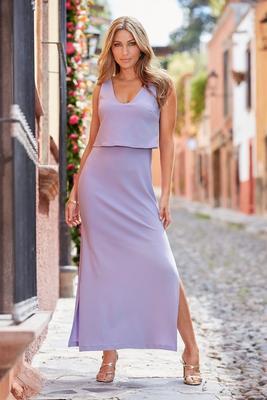 Beyond travel™ popover maxi dress