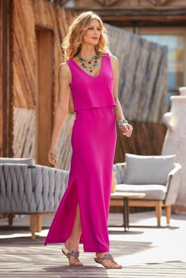 Display product reviews for Beyond travel™ popover maxi dress
