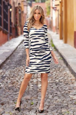 Display product reviews for Beyond travel™ zebra dress