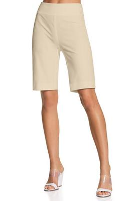 Everyday side zip twill Bermuda short