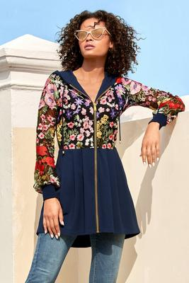 high-low embroidered jacket