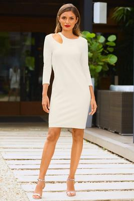 Ponte cutout dress