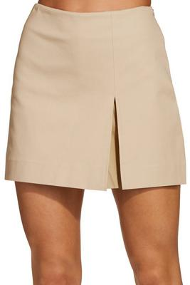 Everyday side zip twill skort