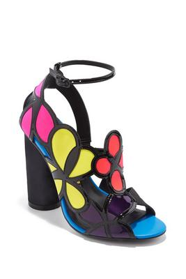 Colorblock statement heel