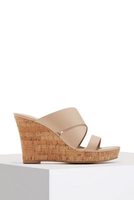 Cork slip on wedge