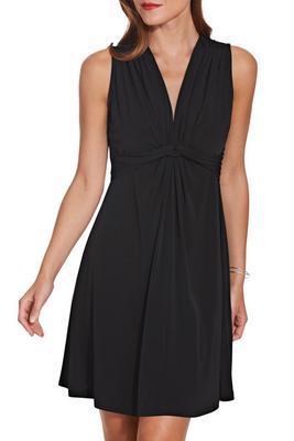 Flirty knot front dress