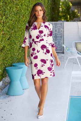 Beyond travel™ floral print dress