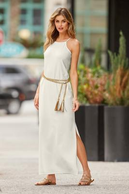 Display product reviews for bEYOND TRAVEL™ HIGH NECK MAXI DRESS